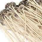 "HTP 126 COTTON CORE PRETABBED WICKS 6"" LENGTH GREAT IN SOY OR PARAFFIN WAX"