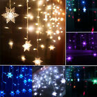 3.5M Icicle Hanging Curtain Fairy Lights Christmas Outdoor Snowflake Party Decor