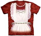 The Mountain Mrs. Claus Santa Holiday Jolly Retro Christmas Ruffle Shirt S M L