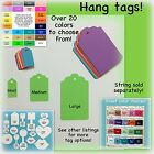 Hang tags, price tags, card stock, many color choices, small, medium, large
