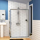 Easy Walk in Glass Sliding Door Shower Enclosure Corner Cubicle Tray 1400x800mm
