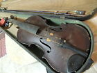 Very Old Antique 4/4 Violin case and Bow