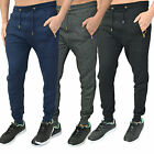 Mens Designer Branded Jogging Pants Quilted Bottoms Trousers Skinny Slim Joggers
