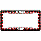 Hearts License Plate Frame Ride Names Female Ba-Be