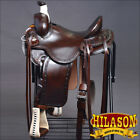 RS106DB HILASON BIG KING WESTERN WADE RANCH ROPING COWBOY SADDLE 15 16 17