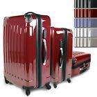 Set of 3 Luggage Trolley Travel Suitcase Hard Shell 360° Wheels Colour Choice