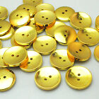 New 10/30/50pcs Gold Round Plastic Buttons 2 Holes Sewing Craft 25mm T0834