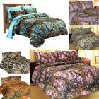 Bedding Sheet Set Premium Microfiber Camo 4 Piece Sizes Camouflage Woodland