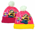 Girls Official Minions Cupcakes Winter Bobble Hat Fashion Cap 3 to 12 Years