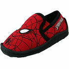 Boys Official Marvel Spiderman Red Slip On Character Slippers Kids Uk Size 7-1