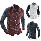 New Fashion Mens Stylish Long Sleeve Slim Fit Casual Dress Shirts Tops Clubwear