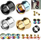 Pair 3-16mm Stainless Steel Horn Hollow Tunnel Plug Ear Gauge Expander Stretcher