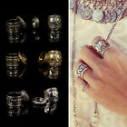 CHIC Silver Punk Vintage Elephant Ring Set Womens Retro Finger Rings Boho Style