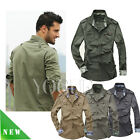 Men's Military Casual Shirts Long Sleeve Slim Fit Army Outdoor Tactical T-Shirt