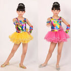 Children Bright Modern dance Dress kidsBallroom Dancwear Costumes Dress 110-150