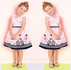 Toddler Kids Baby Dress Girls Pink Sleeveless Party Princess Pageant Dresses