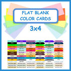 flat place cards - 100 ~ 3x4 Flat Blank Color Cardstock Cards DIY Wedding Table Guest Place Card