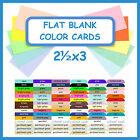 100 ~ 2½x3 Flat Blank Color Cardstock Cards DIY Wedding Table Guest Escort Card