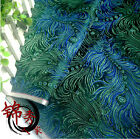 1 meter by the yard green peacock brocade tapestry satin Fabric Cosplay DIY 29""