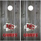 Kansas City Chiefs Vintage Wood Cornhole Board Decal Wrap Wraps (grey) on eBay