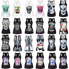 Women's 3D Graphic Skull Tank Tops Vest Blouses Gothic Punk Sleeveless T-Shirts
