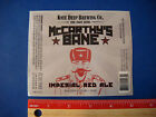 Beer Label Sticker *^* KNEE DEEP McCarthy's Band Imperial Red Ale ~ Lincoln, CA