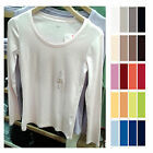 UNIQLO Women SUPIMA COTTON Crew Neck Long Sleeve T-Shirt ChooseColors NEW 163136
