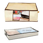 Under Bed Zipped Storage Bag Chest Jumbo Garments Clothes Pillow Bedding Box