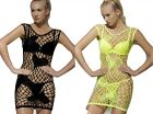 Seamless Mini Dress with Heart Design 2 Colors Sexy Lingerie Rave Club Wear fnt