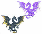 Extra Lrg Embroidered Dragon Motif/Patch/Badge/Applique - Lots of Colour Choices
