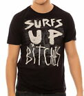 IRON FIST SURFS UP S/S T-SHIRT TOP TEE  BLACK (R11C)
