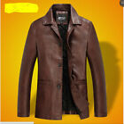 Men's wear a coat Men's leather jackets PU leather thickness Lapel autumn outf
