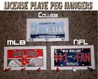 "COLLEGE NCAA LICENSE PLATE PEG HANGER ""Show Your School Spirit !"""