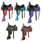 10 Inch Western Saddle - Child's Synthetic Krypton and Leather  -5 Color Options