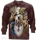 NORTHERN WILDLIFE COLLAGE ADULT LONG SLEEVE TEE THE MOUNTAIN