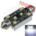 100X White 44MM 4 SMD 1210 2 CREE LED Interior Light Canbus Error Free Car ZI354