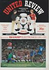 MANCHESTER UNITED HOME PROGRAMMES 1982~83  ~ YOU CHOOSE OPPONENTS FREE POSTAGE