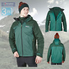 Berghaus Men's Fastrack 3 in 1 Waterproof Jacket - Green - Authorised Dealer