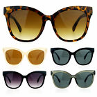 SA106 Womens Oversize Horn Rim Cat Eye Flat Lens Sunglasses