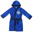 Boys Official CHELSEA FC Hooded Dressing Gown Toddler Bath Robe 3 to 4 Years