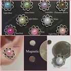 MAGNETIC Faux Pearl Button Dome Cab Setting 13 mm Stud Clip on Earrings #M126