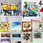 22 Style 3D Wall Stickers Removable Mural Art Decal Kids Nursery Family Decor