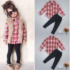 2Pcs Toddler Kids Baby Girls Clothes T-shirt Shirt Tops +Long Pants Outfits Sets
