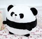 super Q plush toy black and white panda ball football creative birthday gift 1PC