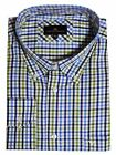Cotton Valley cotton Rich Checked LS Shirt in NavyBlue Green(15613),Size 2XL-6XL