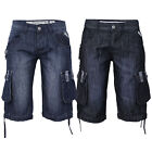 Mens Denim Knee Length Combat Shorts By Crosshatch