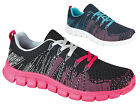 Ladies Women Celebrity Gym Jogging Running Sports FLEXI Trainers Flat Shoes Size
