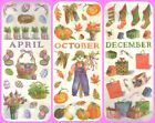 *SEASONS & MONTHS* PRINTWORKS VELLUM STICKERS January - December EASTER XMAS