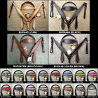 HILASON WESTERN LEATHER HORSE BRIDLE HEADSTALL BREAST COLLAR W/ PRINTED INLAY