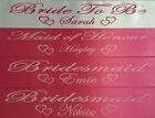 Bridal, Birthday, Hen's Night, Any Wording Customised, Personalised Party Sash